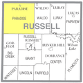 Map highlighting Paradise Township, Russell County, Kansas.png