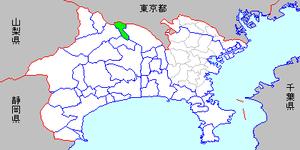 Shiroyama, Kanagawa - Image: Map kanagawa shiroyama town p 01 01