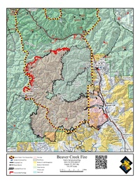 Map of Beaver Creek Fire and Past Fires Affected Area