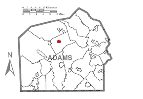 Map of Biglerville, Adams County, Pennsylvania Highlighted.png