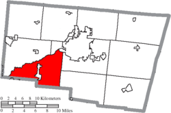 Location of Mad River Township in Clark County