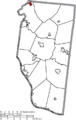 Map of Clermont County Ohio Highlighting Loveland City.png