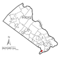 Map of Cornwells Heights-Eddington, Bucks County, Pennsylvania Highlighted.png