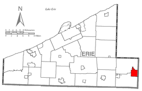 Map of Corry, Erie County, Pennsylvania Highlighted.png