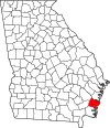 Map of Georgia highlighting Glynn County.svg
