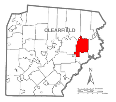 Map of Graham Township, Clearfield County, Pennsylvania Highlighted.png