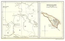 Lage von Helgoland