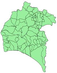 Pueblos De Huelva Mapa.Anexo Municipios De La Provincia De Huelva Wikipedia La
