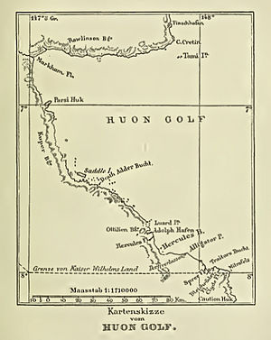 Huon Gulf - Map of Huon Gulf