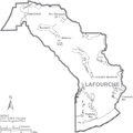 Map of Lafourche Parish Louisiana With Municipal Labels.PNG
