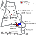 Map of Montour County Pennsylvania With Municipal and Township Labels.png