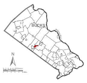 Map of New Britain, Bucks County, Pennsylvania Highlighted.png