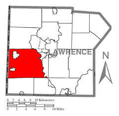 Map of North Beaver Township, Lawrence County, Pennsylvania Highlighted.png