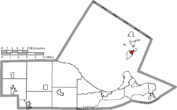 Location of Put-in-Bay in Ottawa County
