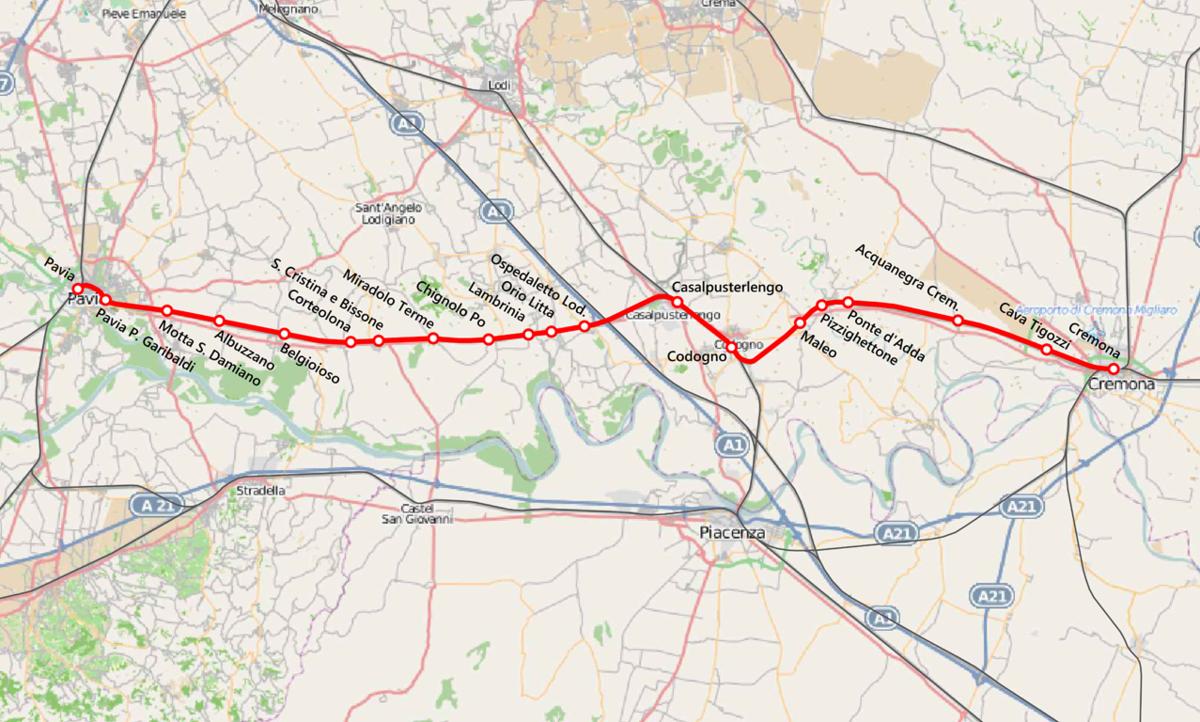 Ferrovia pavia cremona wikipedia - Pavia porta garibaldi ...