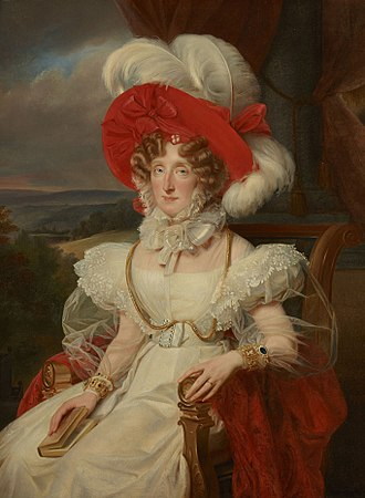 Maria Amalia of Naples and Sicily - Portrait by Louis Édouard Rioult