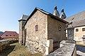 Maria Saal Kollegiatstift Kanonikerstöckl mit polygonal vortretendem Turmbau SO-Ansicht 22032018 2736.jpg