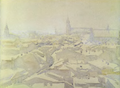 Marian Ruzamski - Kraków we mgle i śniegu.png
