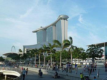 Marina Bay Sands and marine area