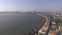 View of Marine drive from Air India Building