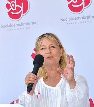 Minister for Consumer Affairs (Sweden) - Image: Marita Ulvskog inför EU valet i maj 2014