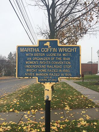 Martha Coffin Wright - Marker recognizing Wright