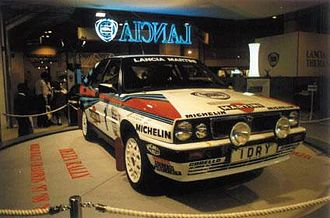 Lancia Delta Group A - 1989 Group A HF integrale on display at the Birmingham Motor Show