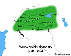 Marwanids rule areas (990 - 1085)
