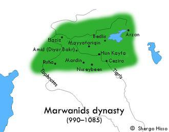 Marwanids - Marwanids rule areas (990 - 1085)