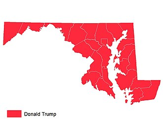 2016 Maryland Republican primary - Image: Maryland Republican Primary Results 2016
