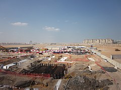 Masdar city under construction 2012.jpg