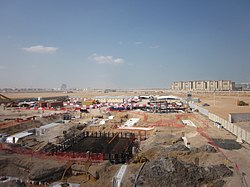 Masdar city, under construction.