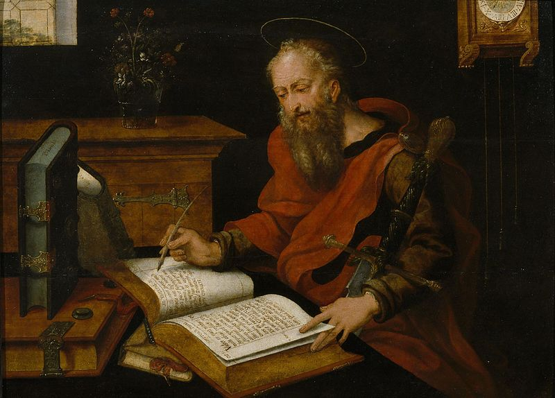 File:Master with the Parrot - St Luke writing.jpg