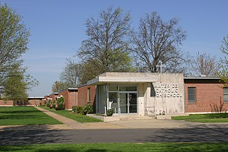 Mater Dei High School (Breese, Illinois) - Image: Mater Dei Front Photo