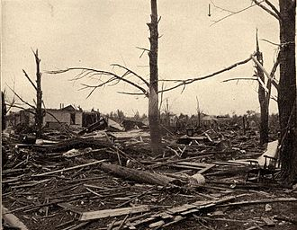 May–June 1917 tornado outbreak sequence - Tornado damage in Mattoon, Illinois, on May 26