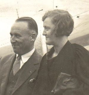 Charles L. Smith (Seattle mayor) - Mayor Smith and Gladys at Renton Airfield.