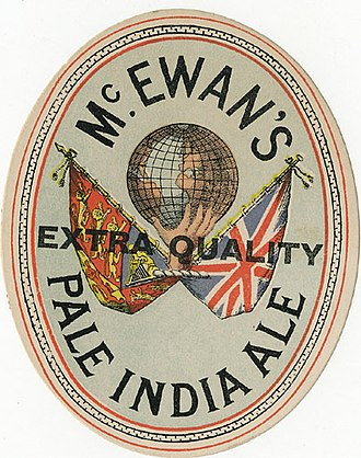 India pale ale - Beer label for McEwan's Pale India Ale from 1907 or earlier