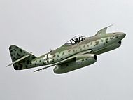 Me 262 flight show at ILA 2006 (cropped).jpg