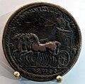 Medaglione di commodo con imperatore su quadriga incoronato dalla vittoria.JPG