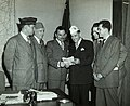 Members of the Jewish War Veterans meeting with New York Governor Thomas E. Dewey, Albany, New York, ca. 1950s (5163716667).jpg