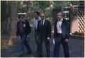 Menahem Begin with member of the Israeli delegation at Camp David - NARA - 181343.tif