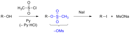 Mesylate substitution