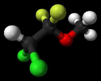 Methoxyflurane - Image: Methoxyflurane 3D balls
