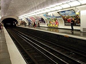 Alexandre Dumas (Paris Métro) - Image: Metro de Paris Ligne 2 Alexandre Dumas 03