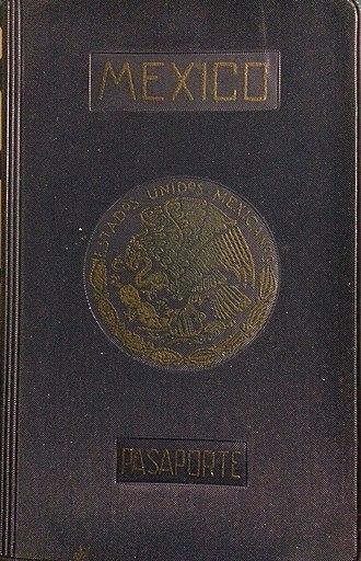 Mexican passport - Image: Mexican passport 1962