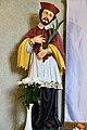 Mezőzombor, római katolikus templom belső tere 2021 06 Nepomuki Szent János-szobor.jpg