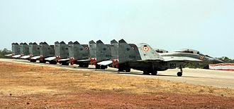 INS Hansa - Indian Navy's MiG-29Ks parked at INS Hansa