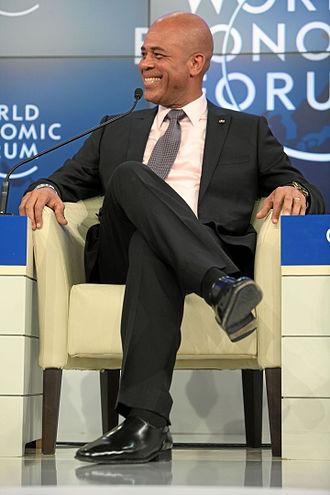 Corruption in Haiti - President Michel Martelly at the World Economic Forum in 2012