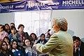 Michelle Bachelet visita junta de vecinos Nº 34 de la comuna de Lo Espejo (8672267269).jpg