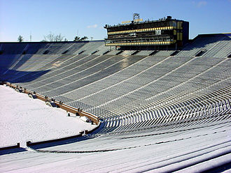 Michigan Stadium - Image: Michigan Stadium Winter 0001